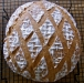19 Wheat loaf with diamond pattern